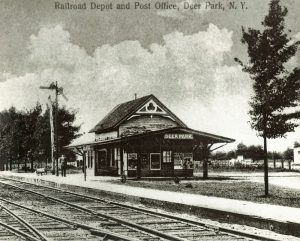 Railroad depot and post office photo
